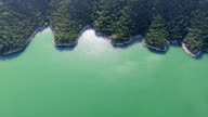 Looking Straight Down Hidden Coves at Lake Travis along the Colorado River Summer Paradise video