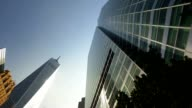 Looking Straight Up at World Trade Center Buildings and Freedom Tower video
