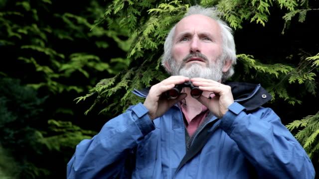 Looking through binoculars video