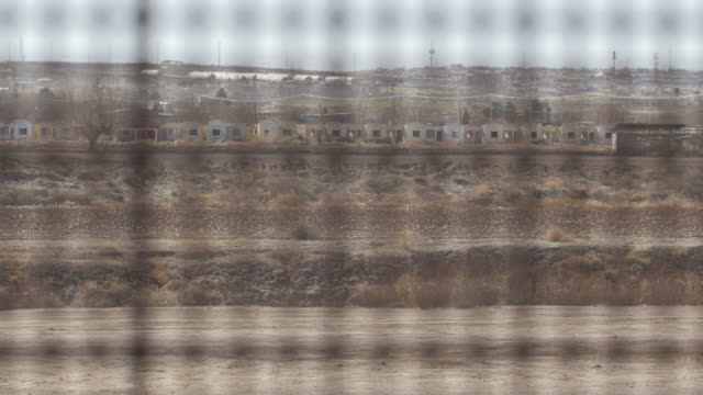Looking Through the Fence on the US and Mexico Border video
