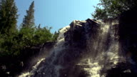 Looking Up At A Waterfall video