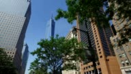 Looking Up at the Freedom Tower from Hudson River Greenway Bike Path video