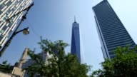 Looking Up at the Freedom Tower from Hudson River Greenway video
