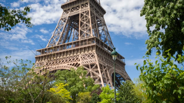 Looking up the Eiffel Tower in Paris video