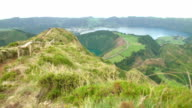 A lookout from the Sete Cidades video