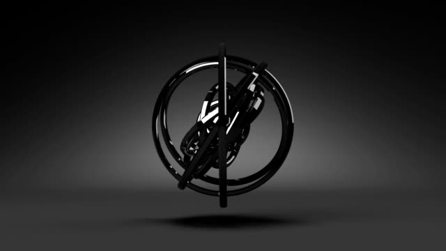 Loop Able Circle Abstract On Black Background video