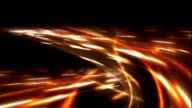 Loop able File. Freeway.  Road junction. Color -fire. video