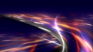 Loop able File. Freeway.  Road junction. Color -sunset video