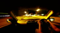 Loop able - Time lapse - the night road video