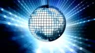 Loop: blue disco ball video