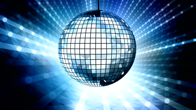 Loop: blue disco ball video