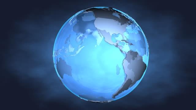 Loop Blue Earth 1080p video