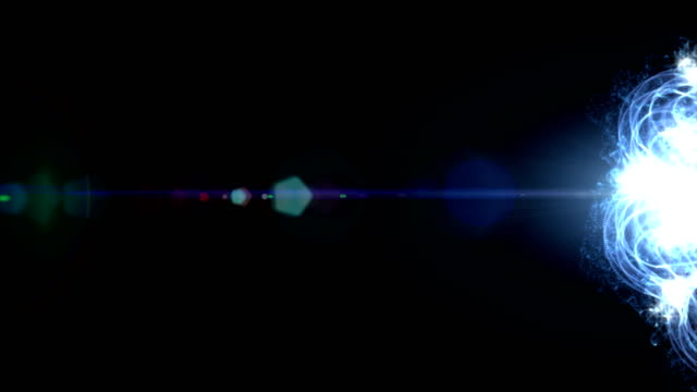 Loop Blue Particle seamless background video