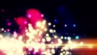 Loop bokeh particles background video