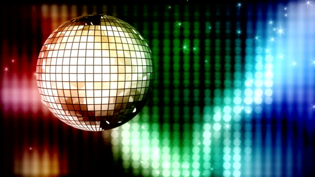 Loop: colorful disco ball video