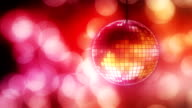 Loop: disco ball with bokeh video
