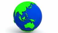 Loop earth animation. 1080p video
