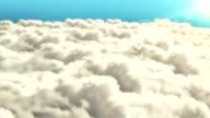 Loop Flying Above Clouds video