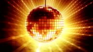 Loop golden disco ball video