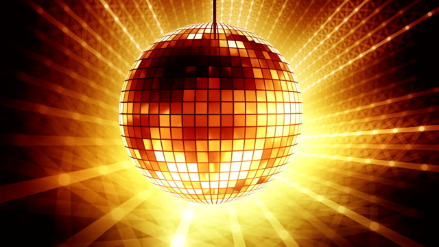 Loop golden disco ball video