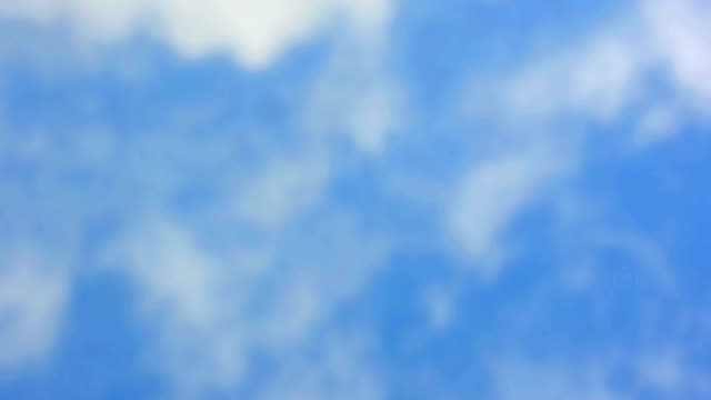 loop of white clouds over blue sky, nature background video
