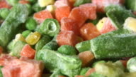 HD loop: rotating frozen vegetables video