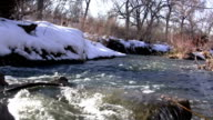 (Seamless Loop) Loop Seamless Snowmelt Stream Flowing video