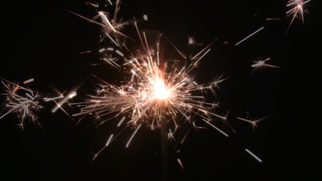 HD loop: Sparkler video