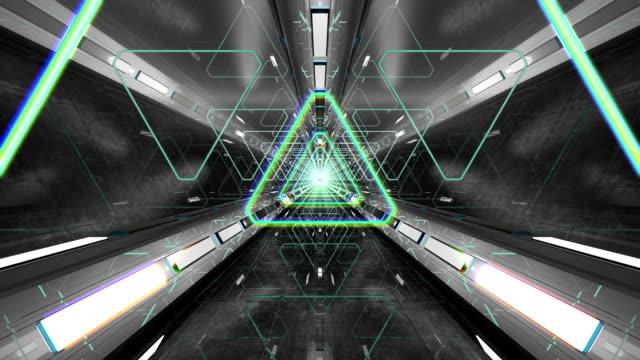 VJ Loop Triangular 3D Tunnel video