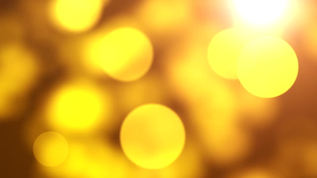 Loopable Abstract Bokeh background Gold video