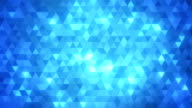 Loopable abstract triangles background blue video
