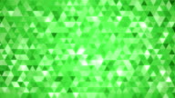 Loopable abstract triangles background green video