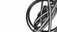 Loopable Black Wire Frame Circle Abstract On White Text Space video