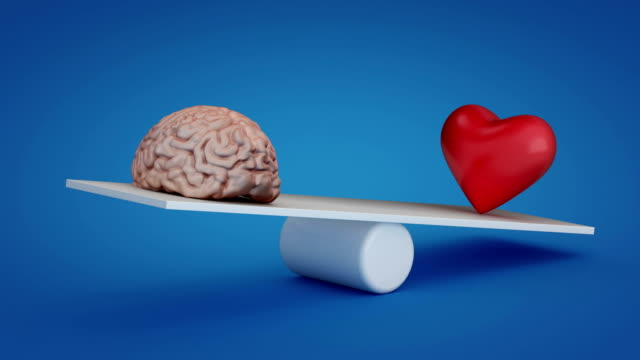 Loopable brain vs heart video with alpha channel video
