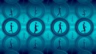 Loopable, Business metaphor. People running inside gears video