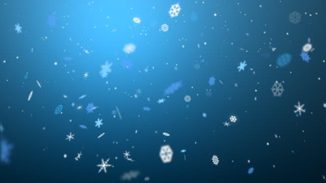 Loopable Christmas Snow Flakes video