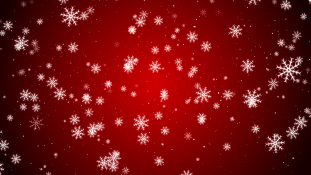 Loopable Christmas Snowflakes video