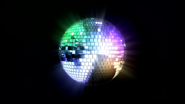 Loopable colorful disco ball video