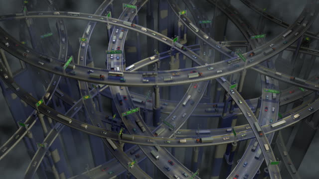 Loopable, Complex Highway Traffic video