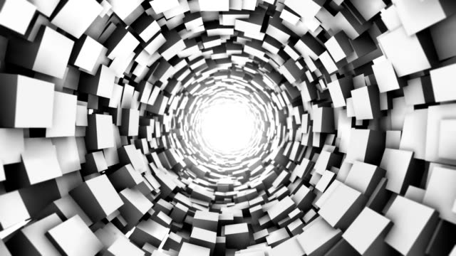 Loopable Cube tunnel. Abstract Geometry. video