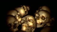 Loopable, Dolly over a field of skulls, Halloween, Genocide, Background video