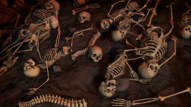 Loopable, Field of skeletons for Halloween, Massacre, Genocide video