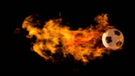 Loopable Flaming Soccer Ball with Alpha Channel video