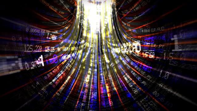 Loopable flight through the digital tunnel. video