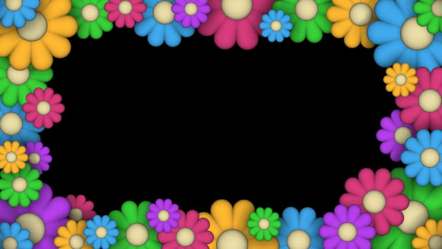 Loopable, Frame of Stylized Flowers video
