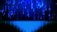 Loopable glitter background,blue background video