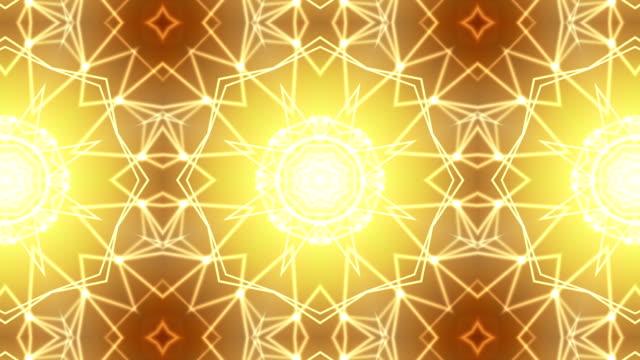 Loopable golden kaleidoscope background video
