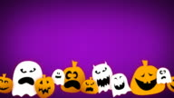 Loopable Halloween Animation with Text Space video