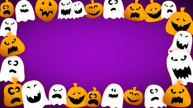 Loopable Halloween Border video