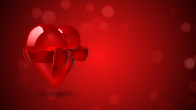 Loopable Heart Background with Copyspace video